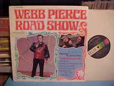 "WEBB PIERCE ROAD SHOW LP WITH ""KOKO"" THE COUNTRY CLOWN RECORD VINYL STEREO"
