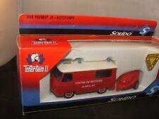 Solido Peugeot J9 with Motopompe Pompiers 1/43  ref 3130