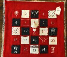 Pottery Barn Advent Calendar Pillow Cover Natural Fair Isle Decor Christmas Red