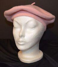 Women's 100% Wool Beret Artist's Cap Beanie NM Adult OSFA Light PINK