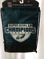 NFL Philadelphia Eagles 2018 superbowl championship drawstring backpack