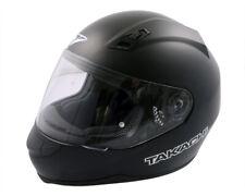Integral Helmet, Scooter Motorcycle Helmet Takachi TK41 Satin-Schwarz - Size L