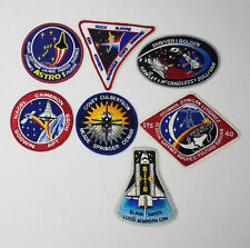 Collection of 7 Space Shuttle Mission Patches ~ acquired from a NASA employee