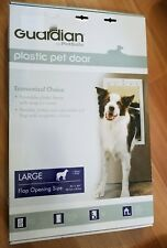 Guardian by PetSafe White Plastic Pet Door Large for Pets to 100 lbs.