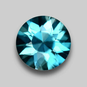 2.17CTS EXCELLENT ROUND DIAMOND CUT NATURAL BLUE ZIRCON VIDEO IN DESCRIPTION