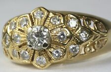 CURRENT CONTEMPORARY 18K GOLD .67 CARAT DIAMOND RIGHT HAND RING