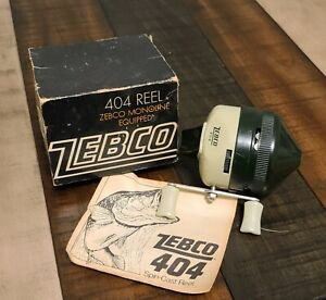 VINTAGE ZEBCO FISHING REEL MODEL 404 w BOX and MANUAL