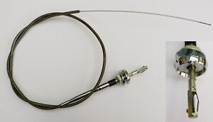 Triumph TR and Universal Turn & Lock Choke Cable for Lucas Hex Removable Knobs