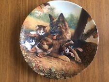 """German Ltd Edition Collectors Plate By Wolfgang Kaiser """"Lighter Animal Stories"""""""