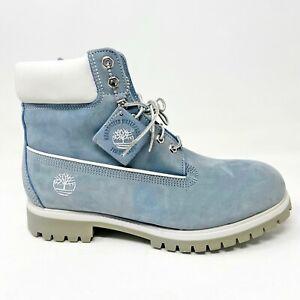 Timberland Mens 6 inch Premium Waterproof Boots Cornflake Blue Nubuck 27000
