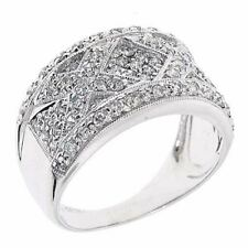 X Style Design 14k Fine Gold Right Hand sparkly Diamond Ring