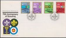 GB GUERNSEY 1982 Boy Scout Movement/75th Anniversary of Scouting SG 259-262 FDC