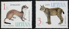 Endangered species stamps, 2002, Stoat, Lynx, Lithuania, SG ref: 785 & 786, MNH