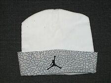 781e0feea06 AIR JORDAN WHITE BEANIE 100% COTTON HAT BOY S GIRL S BABY INFANT ...