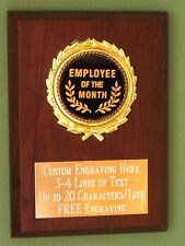 Employee of the Month Award Plaque 4x6 Trophy FREE engraving