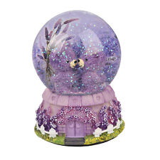 LED Bear Fairy Musical Snow Globe Birthday Xmas Gift Box Lavender Dream House AU