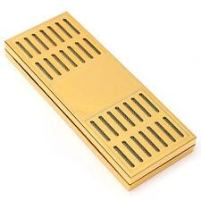 New Gold Color Tobacco Rectangular Smoking Cigar Humidor Humidifier