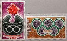 KONGO BRAZZAVILLE 1971 312-13 C122-23 Pre Olympic Year Olympia Olympics 1972 MNH
