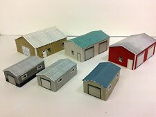 Z Scale Shed Buildings - Farm / Mechanical / Maintenance Sheds Cardstock kit set