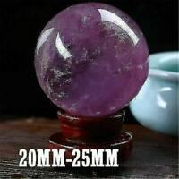 Natural Amethyst Quartz Stone Sphere Crystal Fluorite Ball Healing Gemstone HOT