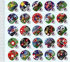 10 Lindner 056 Omnia Stock Sheets Clear 25x 46x55 mm For Kaffeerahmdeckel