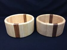 ARABIA Teak and Birch Wood SALAD BOWLS Marco Lindh WOODEN BOWLS Set Of 2