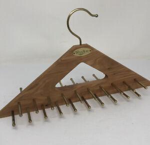 """*WOODLORE Tie Belt Rack Hanger Holder 40 Pegs Cedar Wood Closet Organizer 15"""""""