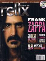 FRANK ZAPPA, Chuck Leavell, Etta James, Reid Genauer, 2006 RELIX Magazine has CD