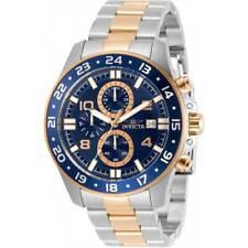 Invicta Men's Watch Pro Diver Chronograph Blue Dial Two Tone Bracelet 30711