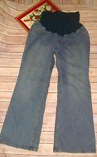 Motherhood Maternity Plus Size 3x Jeans Stretch Full Panel Denim medium wash
