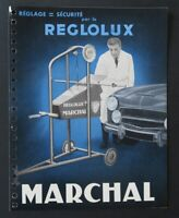 Brochure automobile MARCHAL REGLOLUX 1962 catalogue catalog dépliant