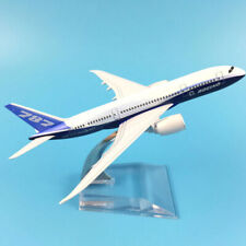 Modellino modello metallo pressofuso 16cm aereo Boeing 787 collezione regalo