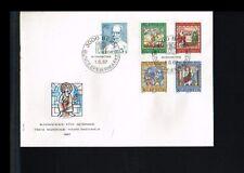 [ZD037] 1967 - Switserland FDC Mi. 853-857 - Art - Work of Art - Pro Patria