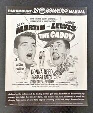 Paramount Showmanship Pressbook THE CADDY Dean Martin & Jerry Lewis Movie 1953