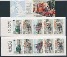 Isle Of Man Lot mit 3 EISENBAHN Markenheftchen 1991, gestempelt (31239)
