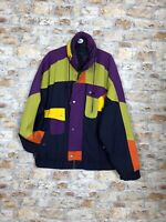 VINTAGE 90'S ABSTRACT C&A SKI SNOW BOARDING OR WINTER WARM MENS JACKET COAT *46
