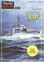 "GENUINE PAPER-CARD MODEL KIT -Destroyer ""BURZA"""