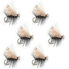 Elk Hair Caddis Black Trout Fly Fishing Flies 6 Flies Hook Size 14 Anglers Gift