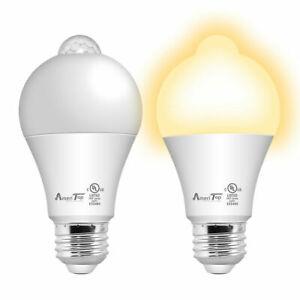 2 Pack Motion Sensor Light Bulb, UL Listed 10W (80W Equivalent) LED Light Bulbs
