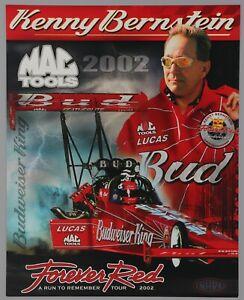 Kenny Bernstein Handout Card NHRA Racing Photo Hero Hand Out Final Tour 2002