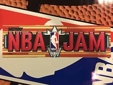 NBA Jam Arcade Marquee Midway Translight Header Sign Backlit
