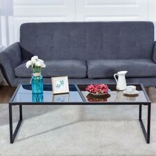 Two Tone Rectangular Tempered Glass Coffee Table | Living Room Furniture