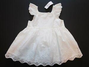NWT Gap Baby Girl's White Eyelet Dress Size 3-6M 6-12M 12-18M New Free Shipping