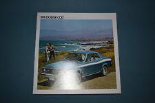 1976 Dodge Colt Sales Brochure GT Coupe Sedan Wagon