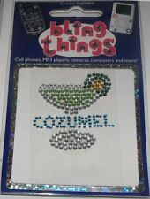 Cozumel Mexico Margarita Cell Phone BLING THING iPhone Sticker iPod Decal BBS059
