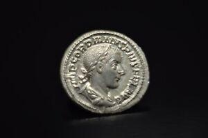 Gordian III Denarius. IMP GORDIANVS PIVS FEL AVG/N98
