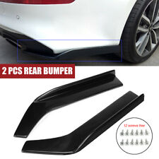 2x Universal Carbon Style Rear Bumper Splitters Spats Splash Guard Lip Diffuser