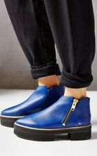 Urban Outfitters by XPERIMENTAL Anna Aimi Ankle Boot Leather Blue Sz 10/40 $250