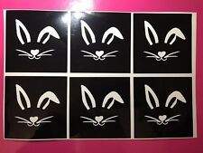 X6 Easter Bunny Stencil Glass Craft Etched Vinyl Sticker Silhouette Disney