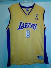 Men Vintage Champion NBA Los Angeles Lakers #8 Kobe Bryant Jersey Size 44 Yellow